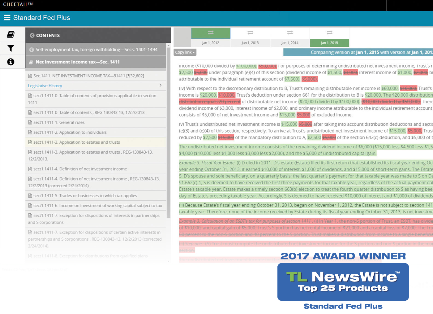 Tl newswire top 25 products of 2017 awards technolawyer medium accompanying analysis from the standard federal tax reporter helps you understand the changes read tl newswire article falaconquin