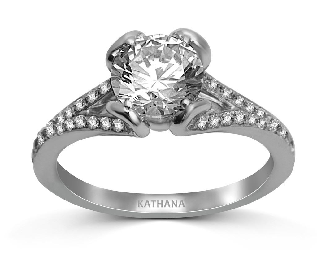 And Given How The Split Accentuates The Beauty And Shine Of The Center  Stone, Not To Mention The Smaller Diamonds That Usually Accompany This  Setting,