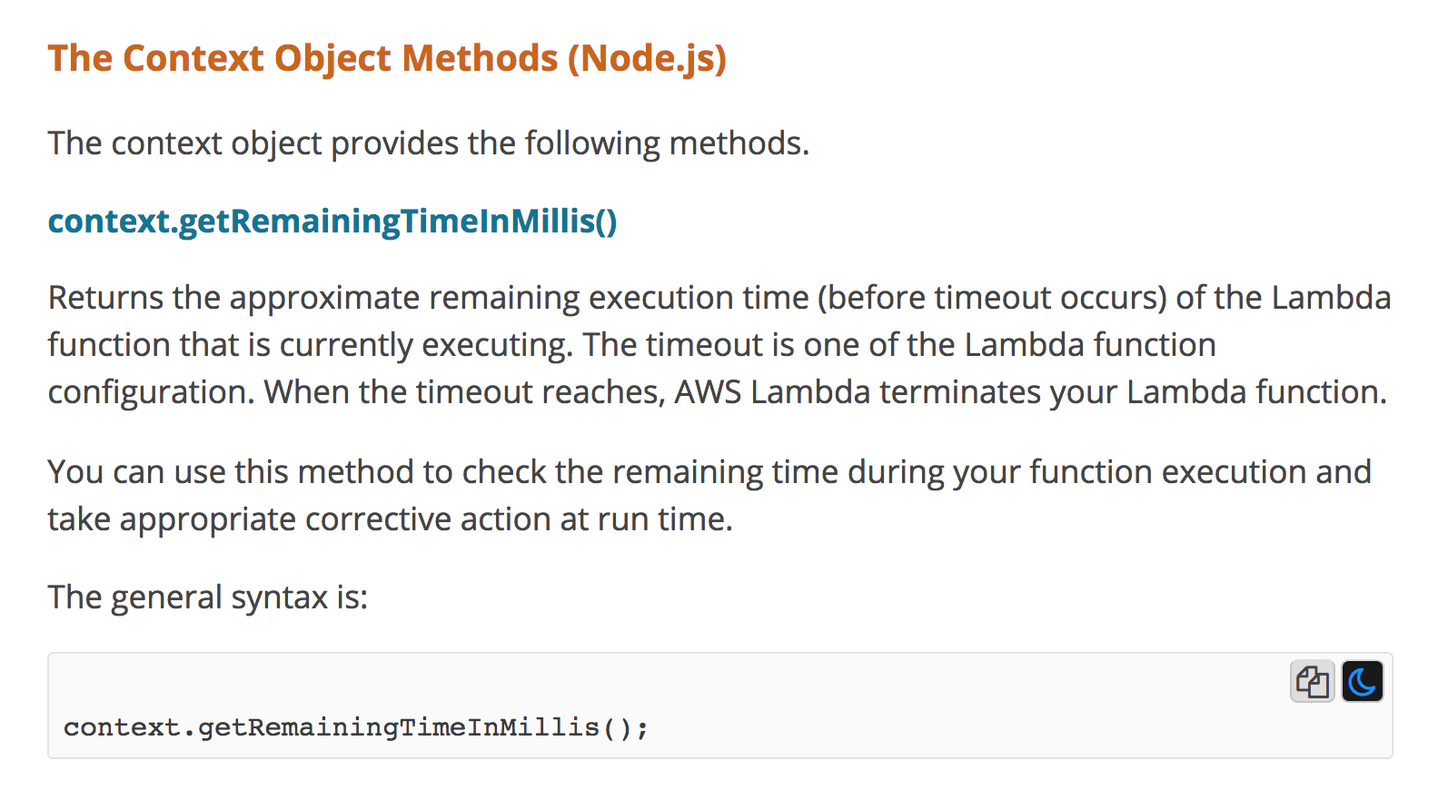 AWS Lambda - use invocation context to better handle slow HTTP responses