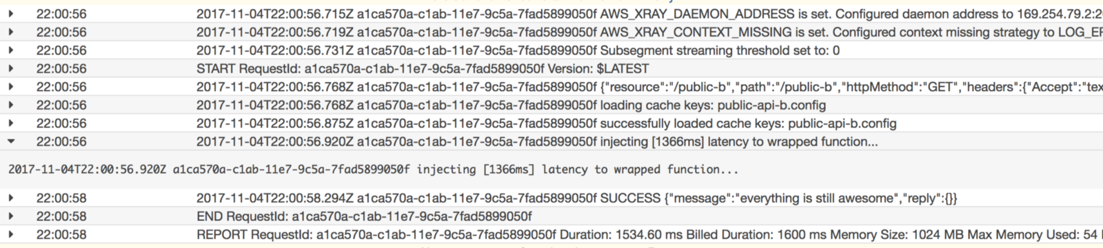 Applying principles of chaos engineering to AWS Lambda with latency