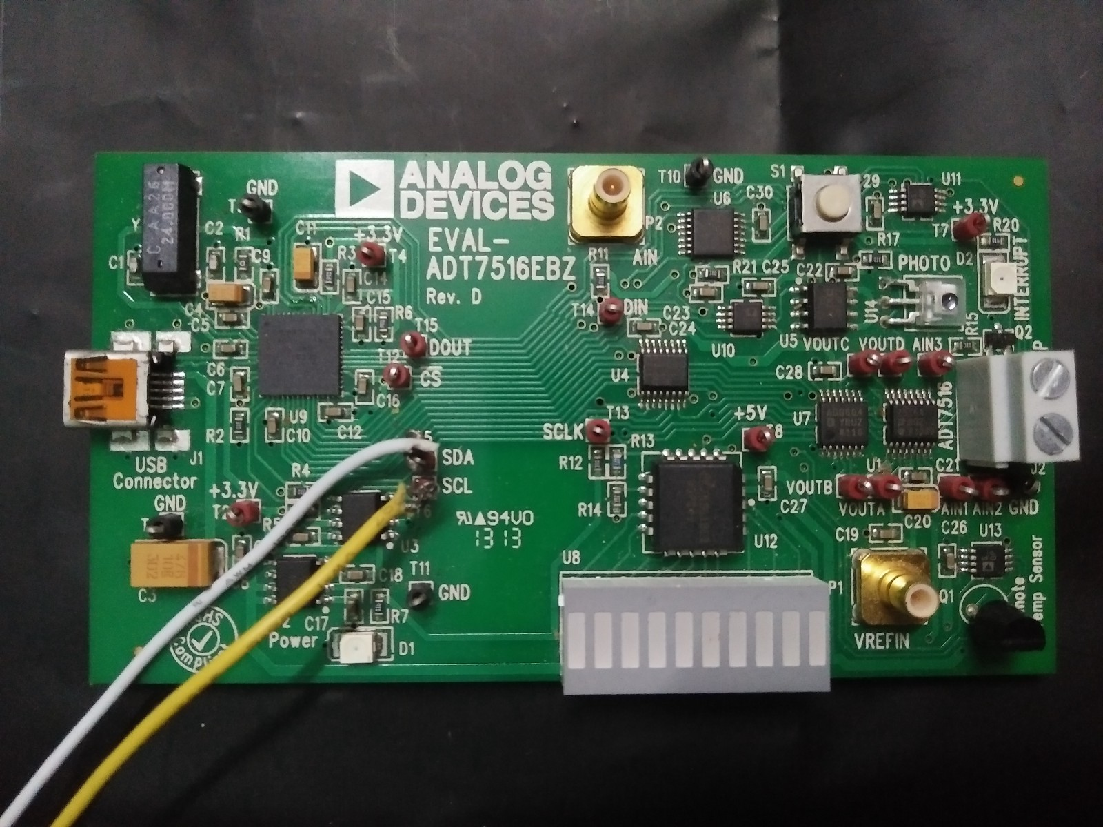 Connecting adt7516 Eval board with BeagleBone Green