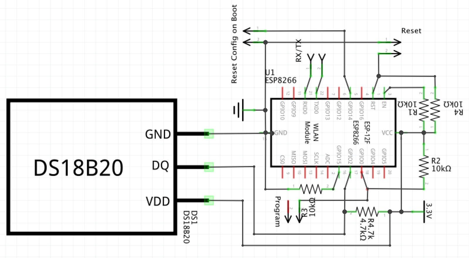 Building A Wifi Enabled Thermometer Oscar Djupfeldt Medium Ds18b20 Wiring Diagram Circuit