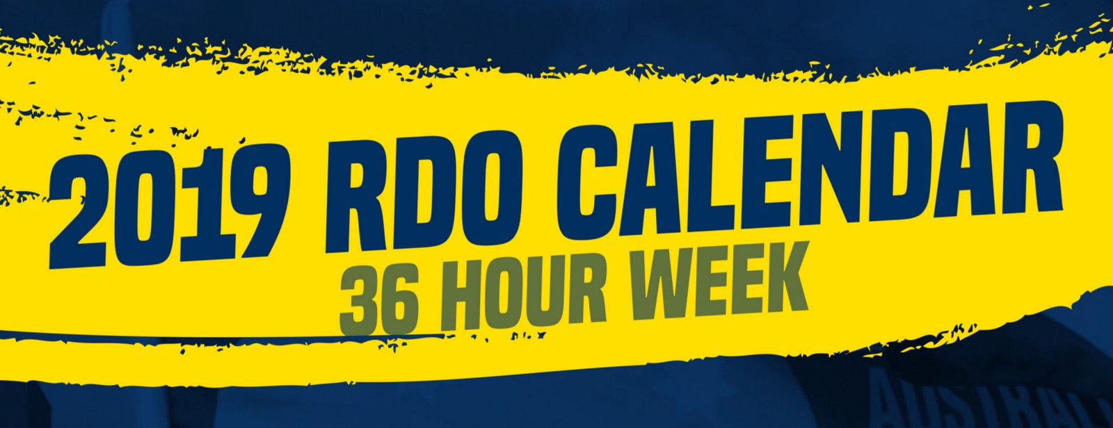 2019 Rdo Calendar 36 Hour Week The Worker Medium