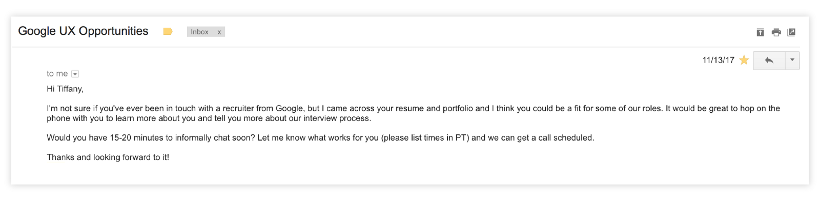 What i learned from interviewing and receiving offers from google full time process expocarfo