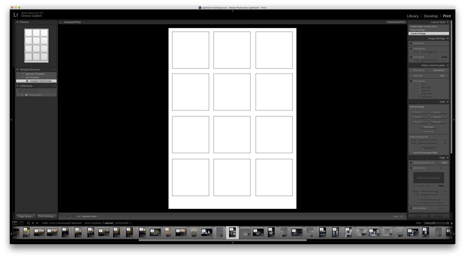 Quickly Preview Your Instagram Feed In Lightroom Dennys Gadient