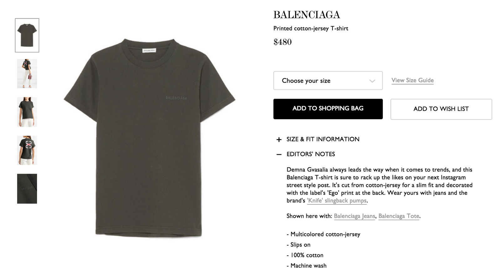 7dbd8e06a894 $480 for a plain T-shirt? Maybe if we talk about Instagram a millennial  would want to buy it?