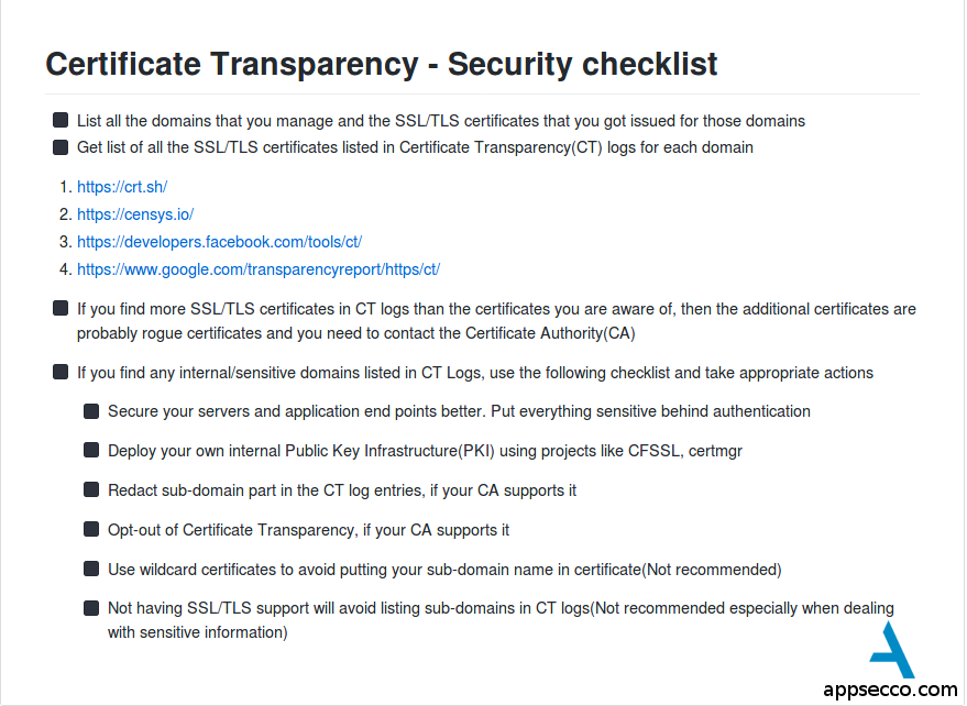 Certificate Transparency Part 3 The Dark Side Appsecco