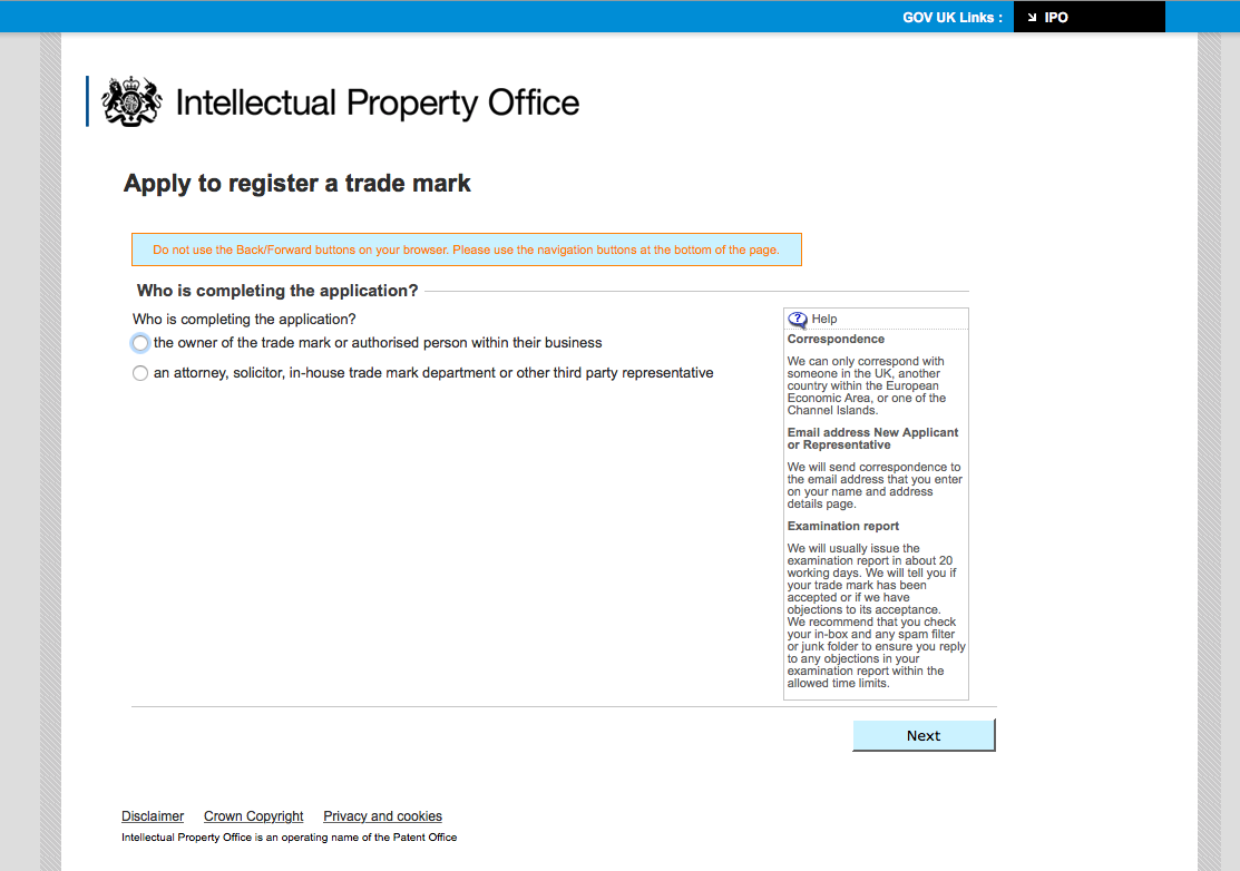 patent office forms