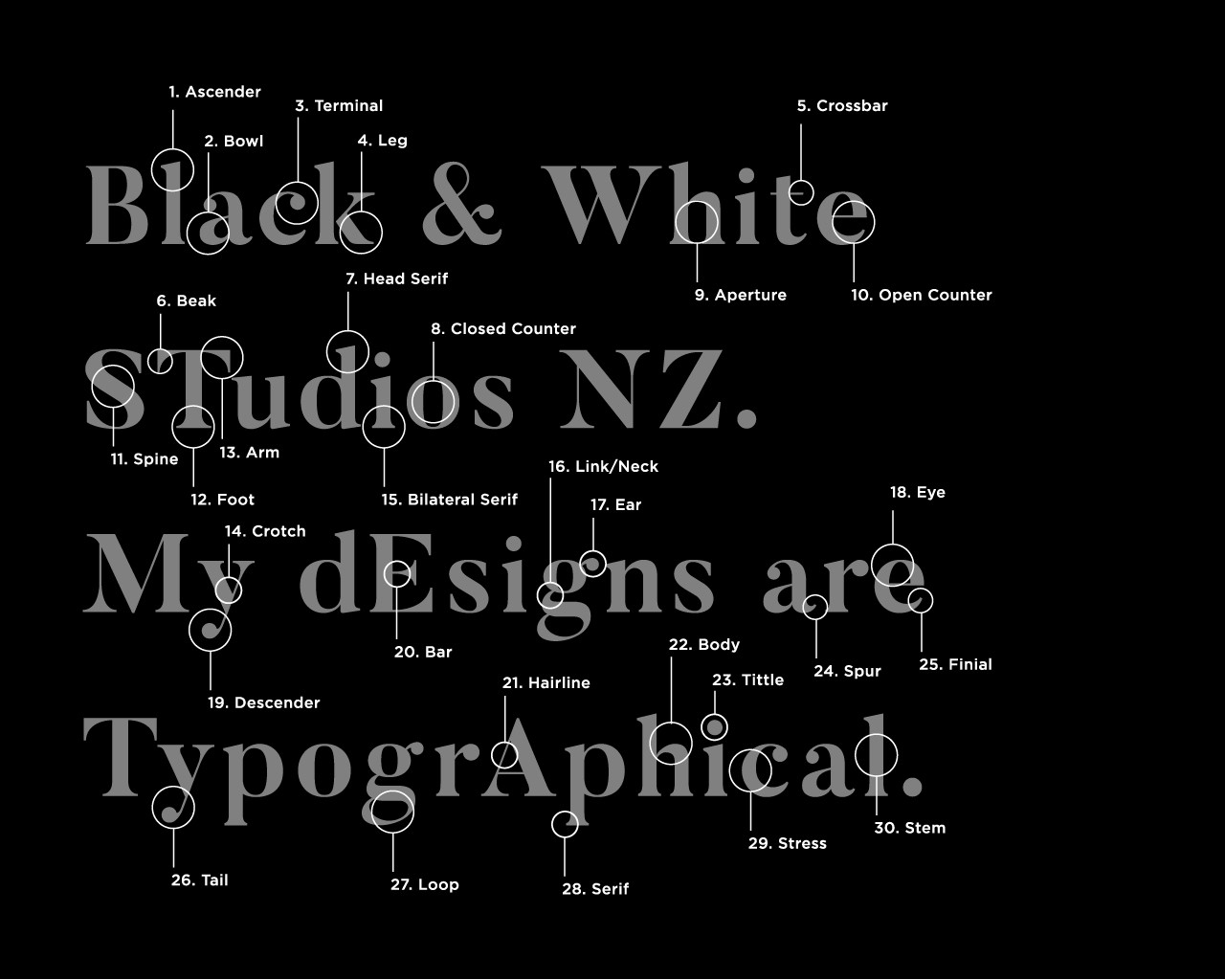 The Anatomy Of Type Introduction To Typography 5 Black White