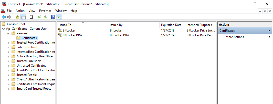 Automatic usb encryption enforcement with virtual smartcards highlight bitlocker dra select all tasks and export yadclub Images