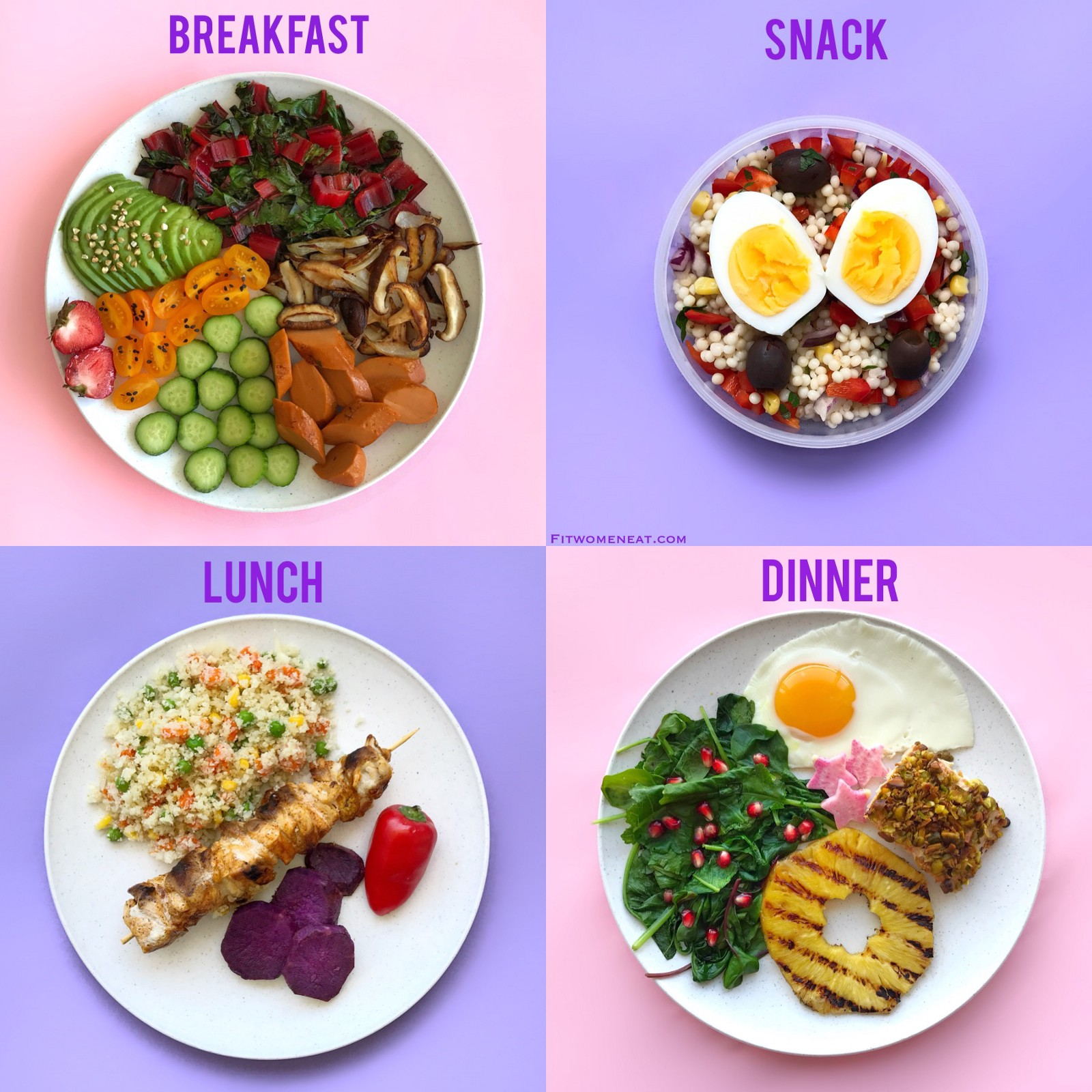 Colorful Meal Prep Break Down