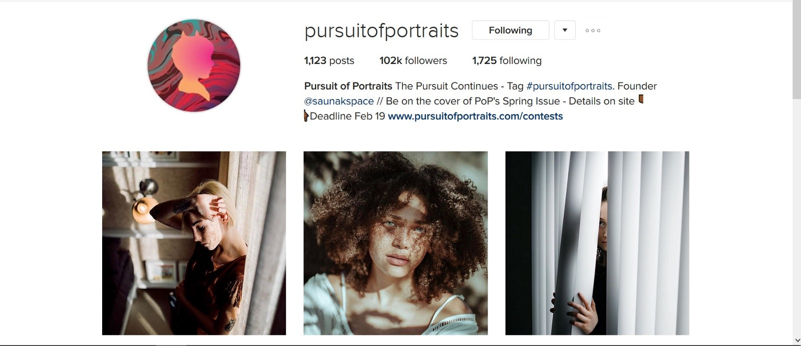 Top 10 Portrait Feature Accounts On Instagram Dan Bullman Medium