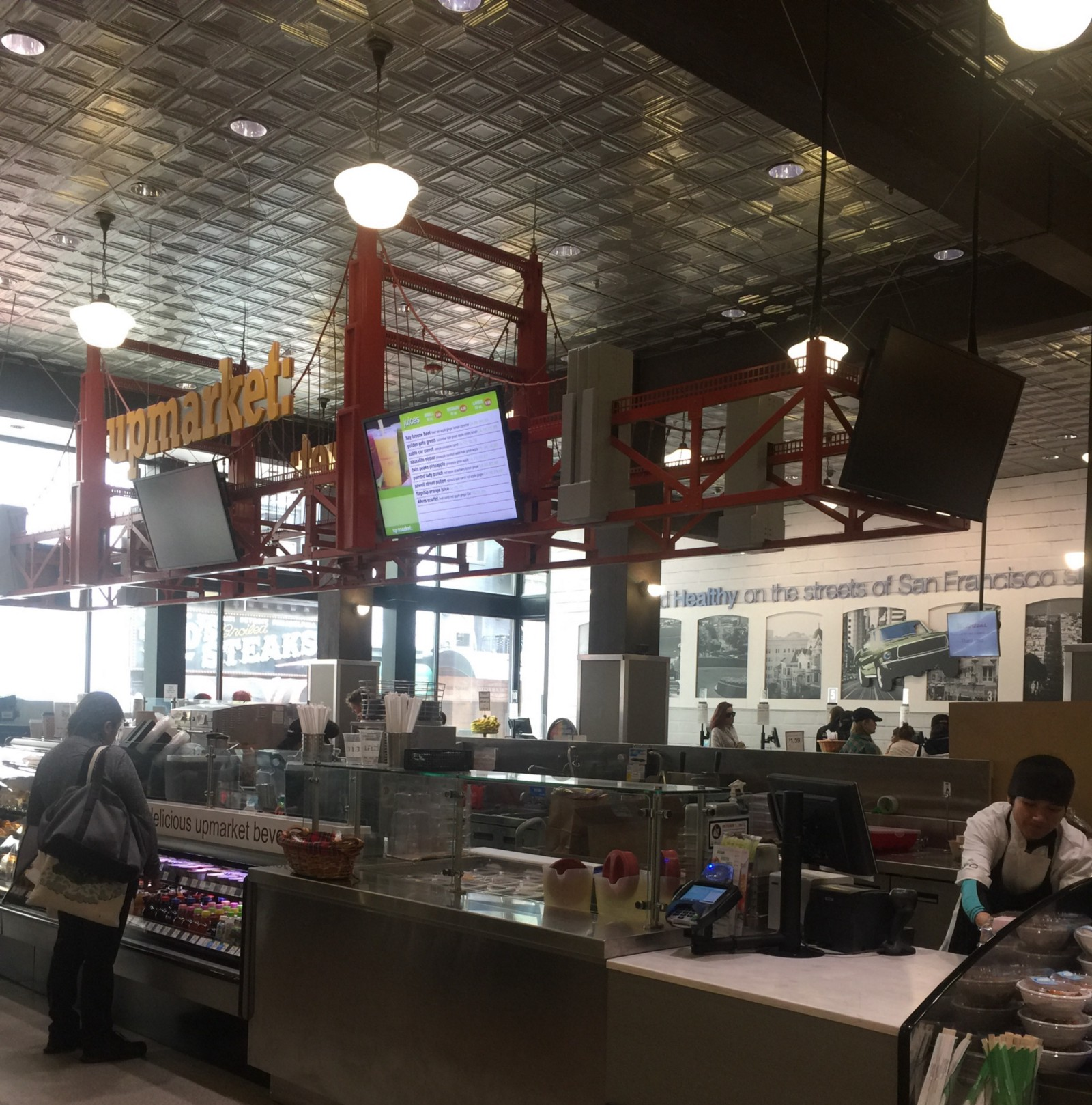 Employees at home for walgreens - In The Center Just As You Enter There Is An Oval Shaped Bar Called The Upmarket With A Barista A Cashier And Two Sushi Chefs