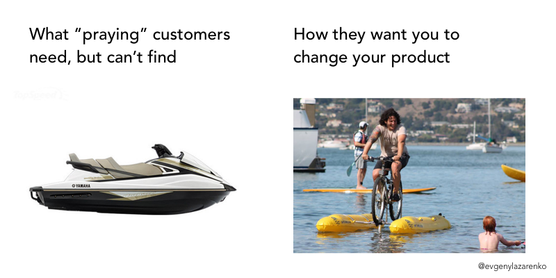 This is how bad SaaS customers see your product: they always need more features.