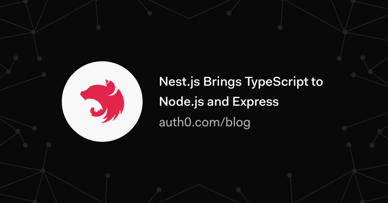 Nestjs brings typescript to nodejs and express auth0 medium in this article we are going to learn about nestjs a framework for building nodejs web applications why nestjs because although nodejs already baditri Choice Image