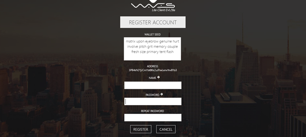 how to open waves wallet