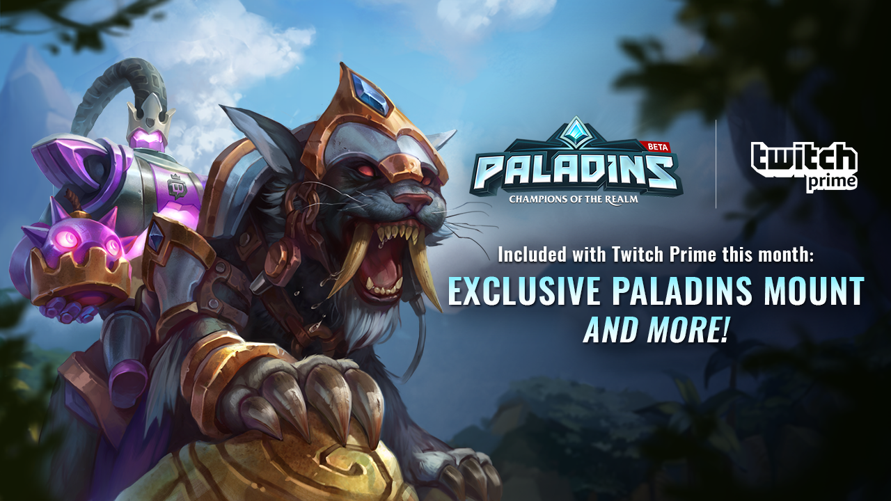 Twitch Prime Members Enhance Your Paladins Experience With An