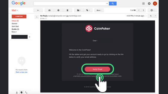 Guide to Getting Started on CoinPoker Step 6