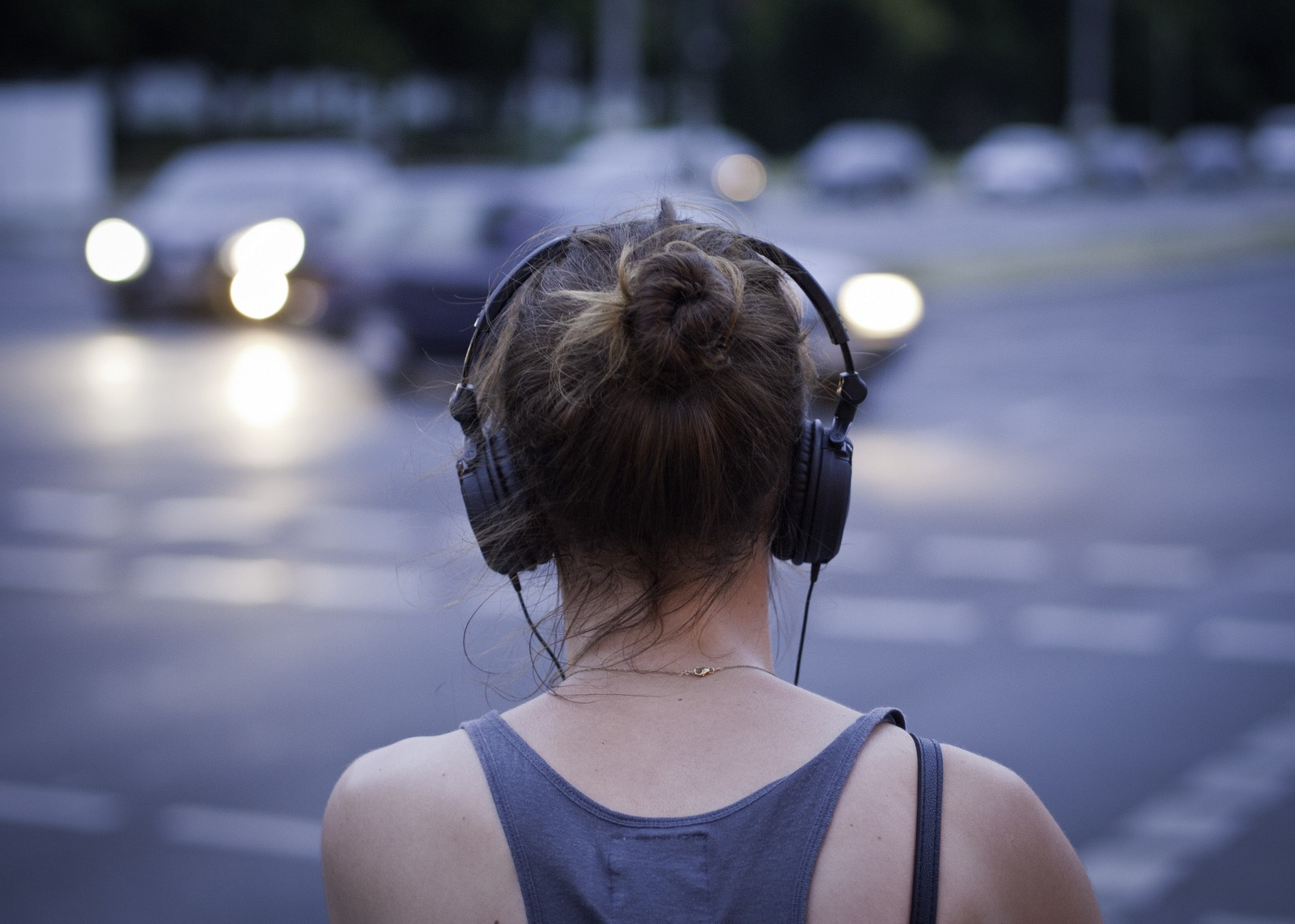 Image result for headphone woman