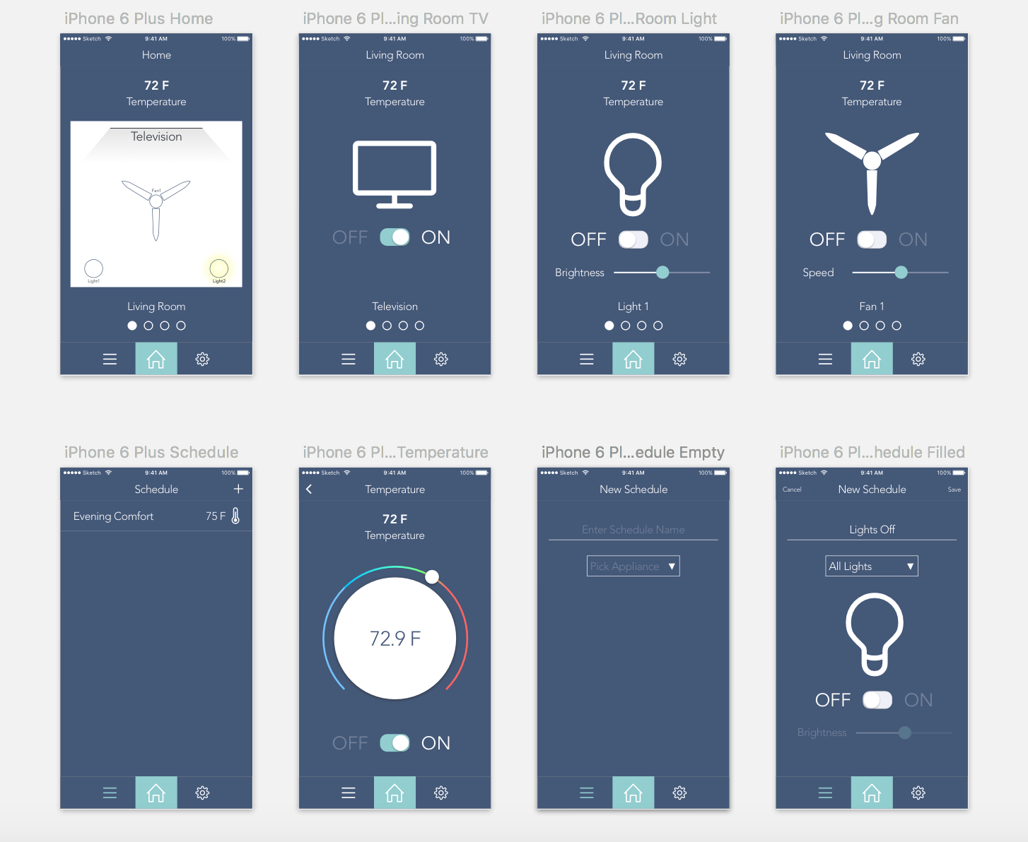 Sketch Design Of The SmartHome App