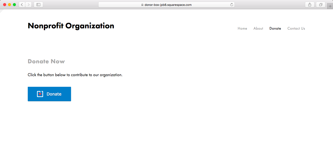 installing modal popup donation forms on squarespace