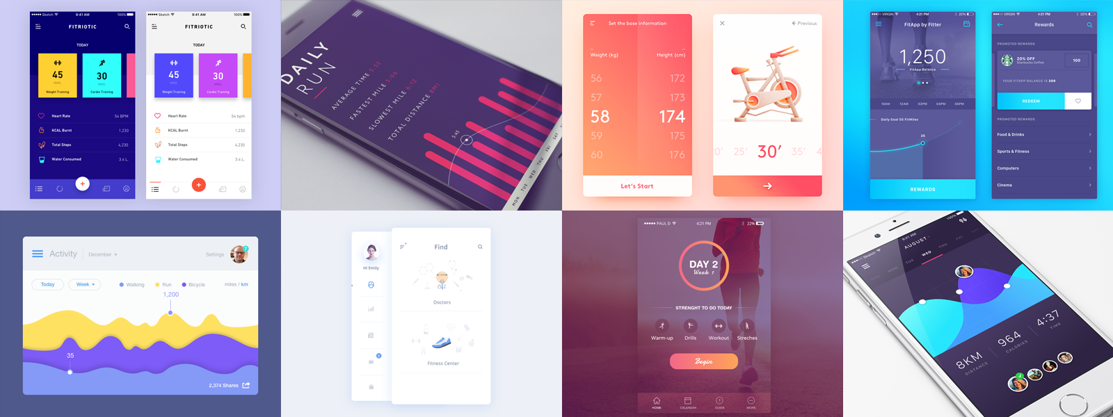 Fitness/Health App — Design Inspiration – Muzli - Design Inspiration