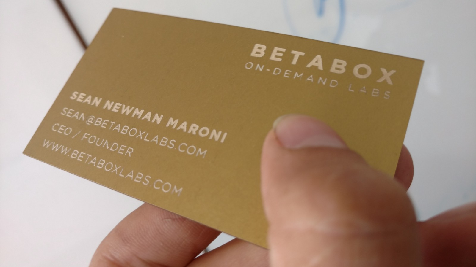 Making laser cut business cards in a Betabox Prototyping Lab