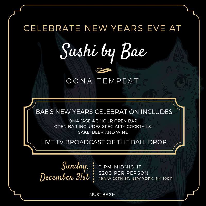 Bring In The New Year Right Way With Bae Join Chef Oona Tempest At Sushi By For A 3 Hour Omakase And Open Bar Experience Live TV Broadcast