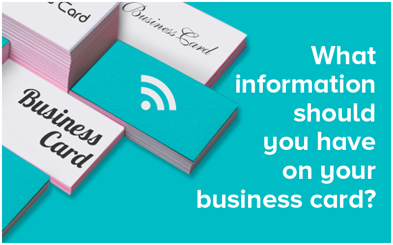 what information should you have on your business card