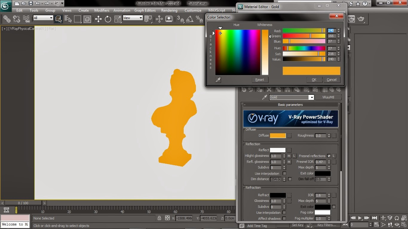 Vray gold material tutorial