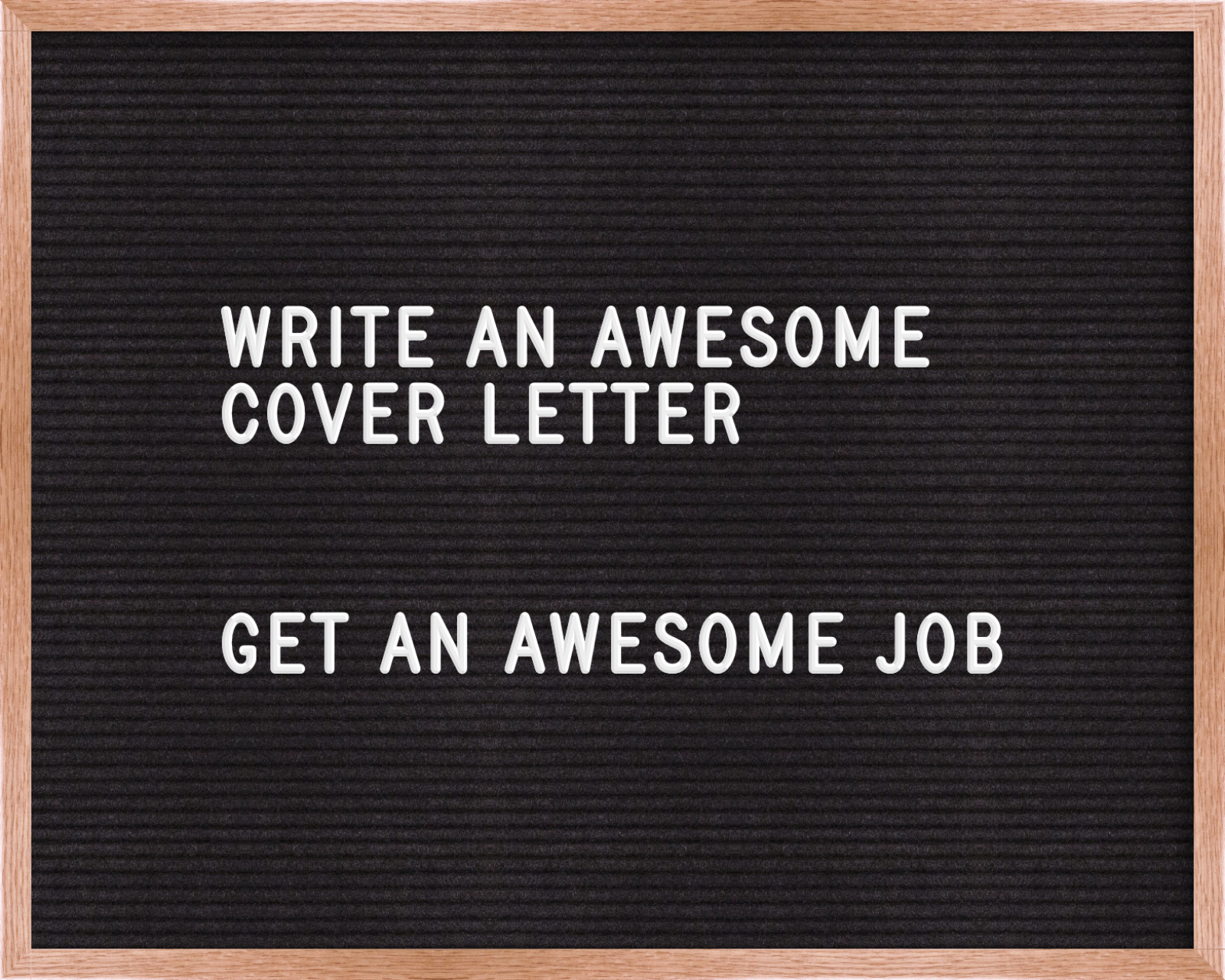 write me a cover letters