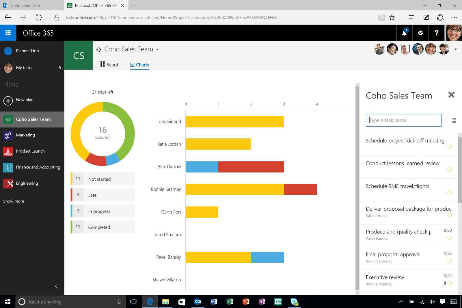 Microsoft planner a lightweight project management for Office planner online