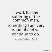 The Principle Of Simple Living And High Thinking By Edhi