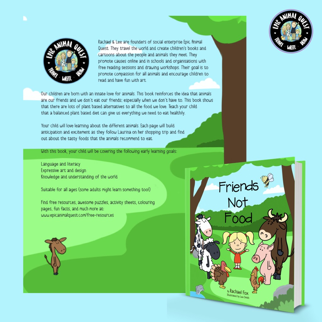 Friends Not Food Vegan Children's Book - Epic Animal Quest