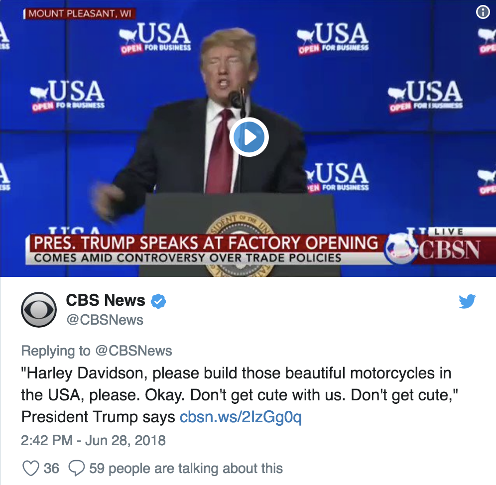 Why Did Harley-Davidson Get Cute With Trump?