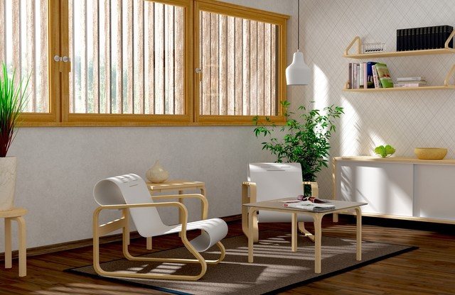Paimio chairs by Alvar Aalto