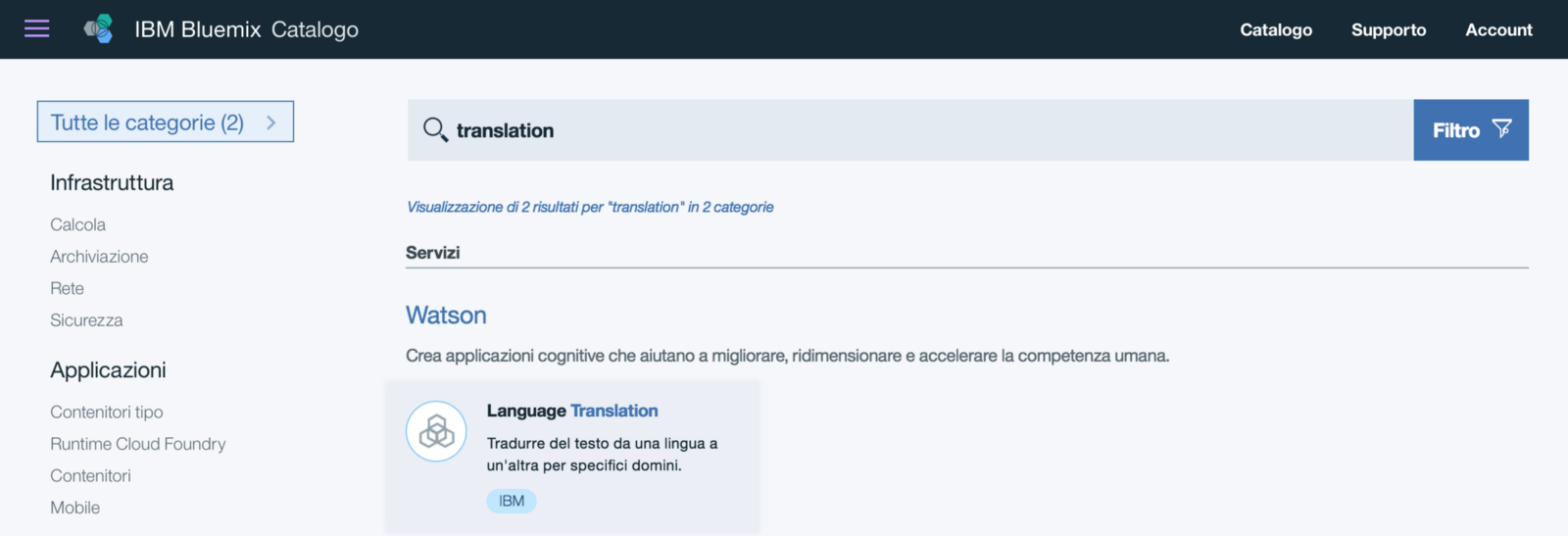 Build a translator Slack command using IBM Watson