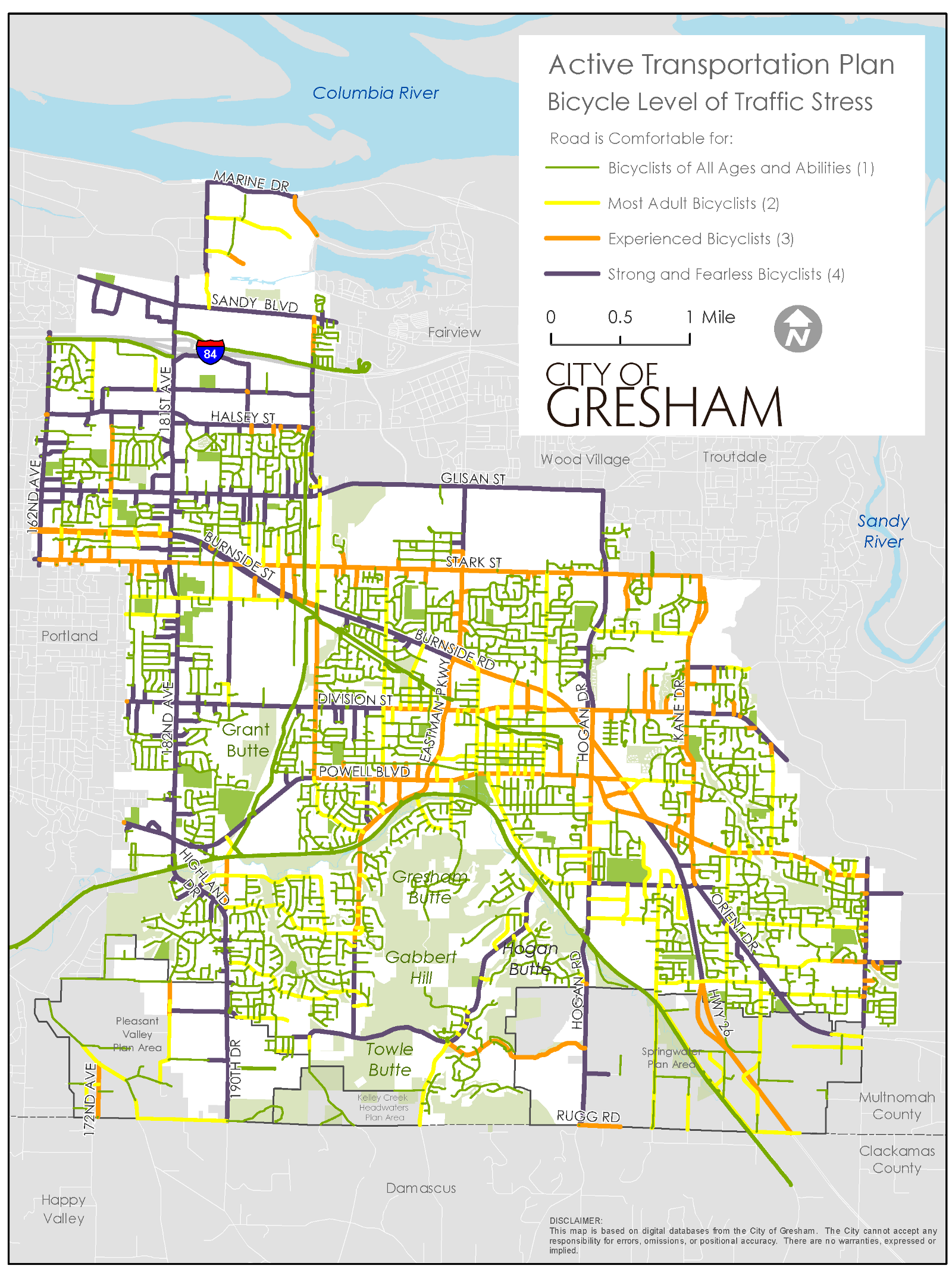 Level Of Traffic Stress What It Means For Building Better Bike Bicycle Diagram Example Map A Lts Analysis Gersham Active Transportation Plan Analyses Serve As An Effective To Understand How Factors In Complex