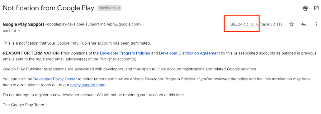 Google Just Terminated Our Start Up Google Play Publisher Account On