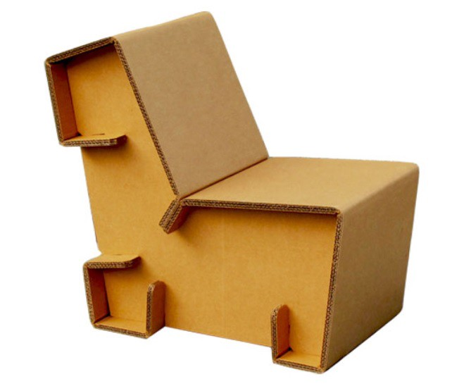 And Here Is Your Cardboard Zigzag Chair Ready To Use