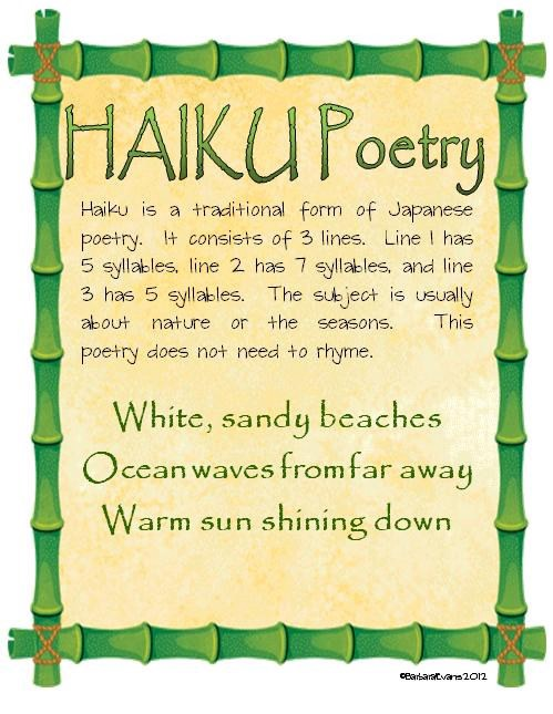 the benefits of students writing haiku poetry  tracey
