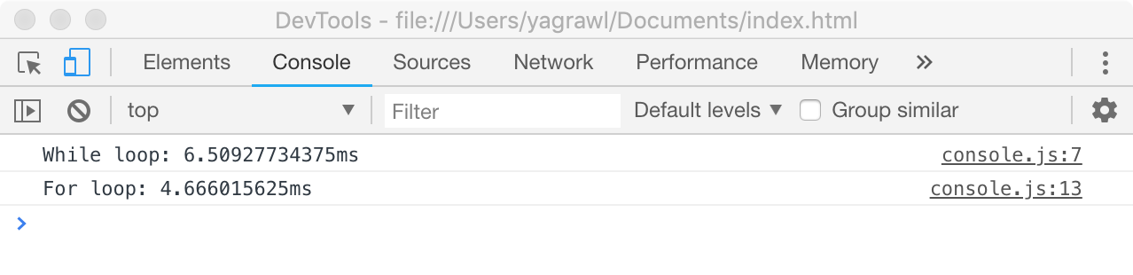 How to use the JavaScript console: going beyond console.log