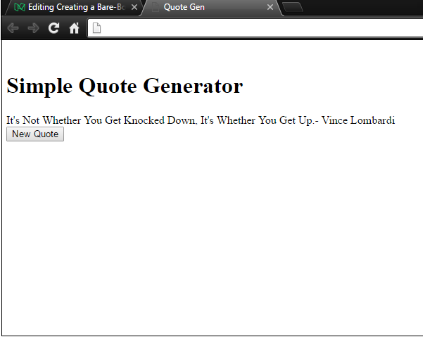 how to build a random quote generator with javascript and html for