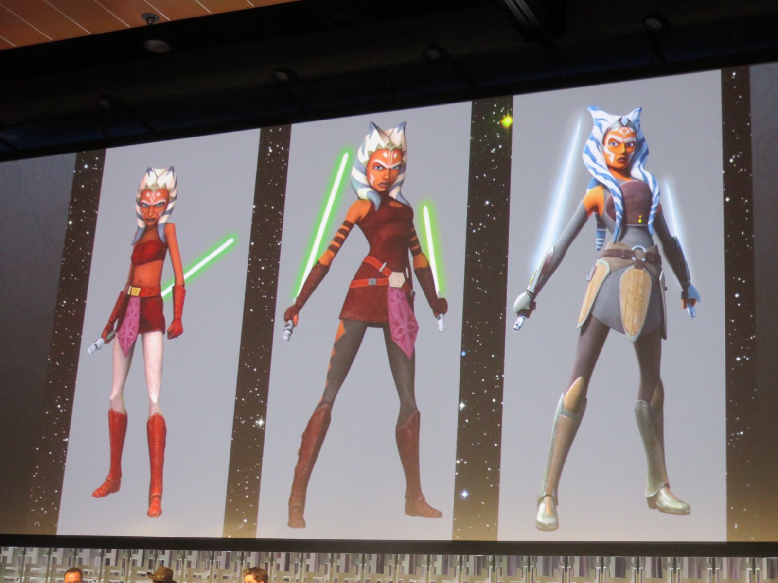 a013b57833cc9 The various character designs for Ahsoka Tano presented by Dave Filoni  during Star Wars Celebration Orlando 2016