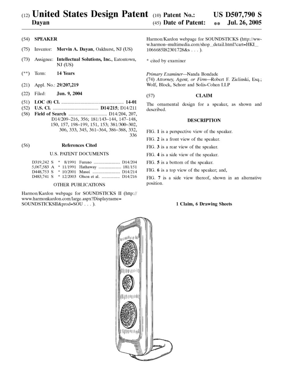Moma Approved Harman Kardon Soundsticks Ii Teardown Audio Indicator By 741 And Here Is The Patent Of Two Satellites