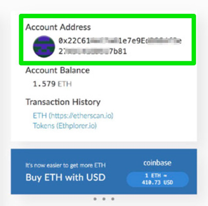 how to find ethereum wallet address