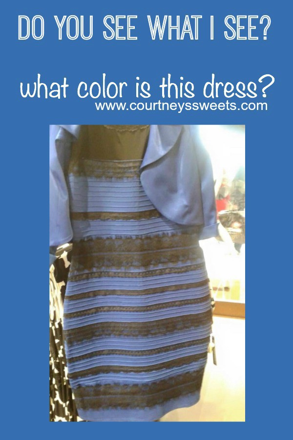 Color dress black and blue or gold and white