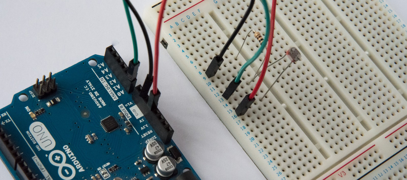 Introduction To Javascript Electronics Part 3 Working With Sensors Voltage Divider Circuit For Arduino Measure Analog Temperature The Is Now Completed So Lets Add Light Sensor Our App Into Arduinos On Ready Callback Function
