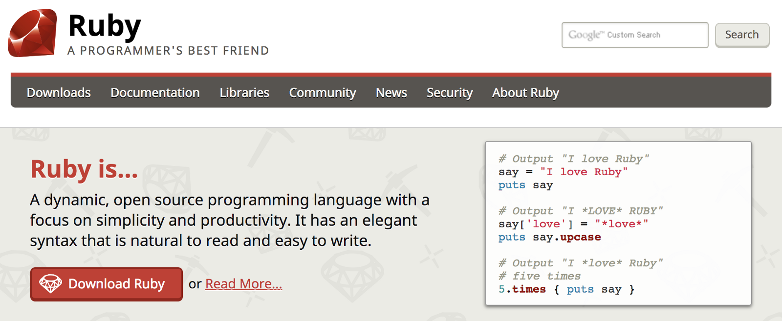 The Ruby Programming Language Book