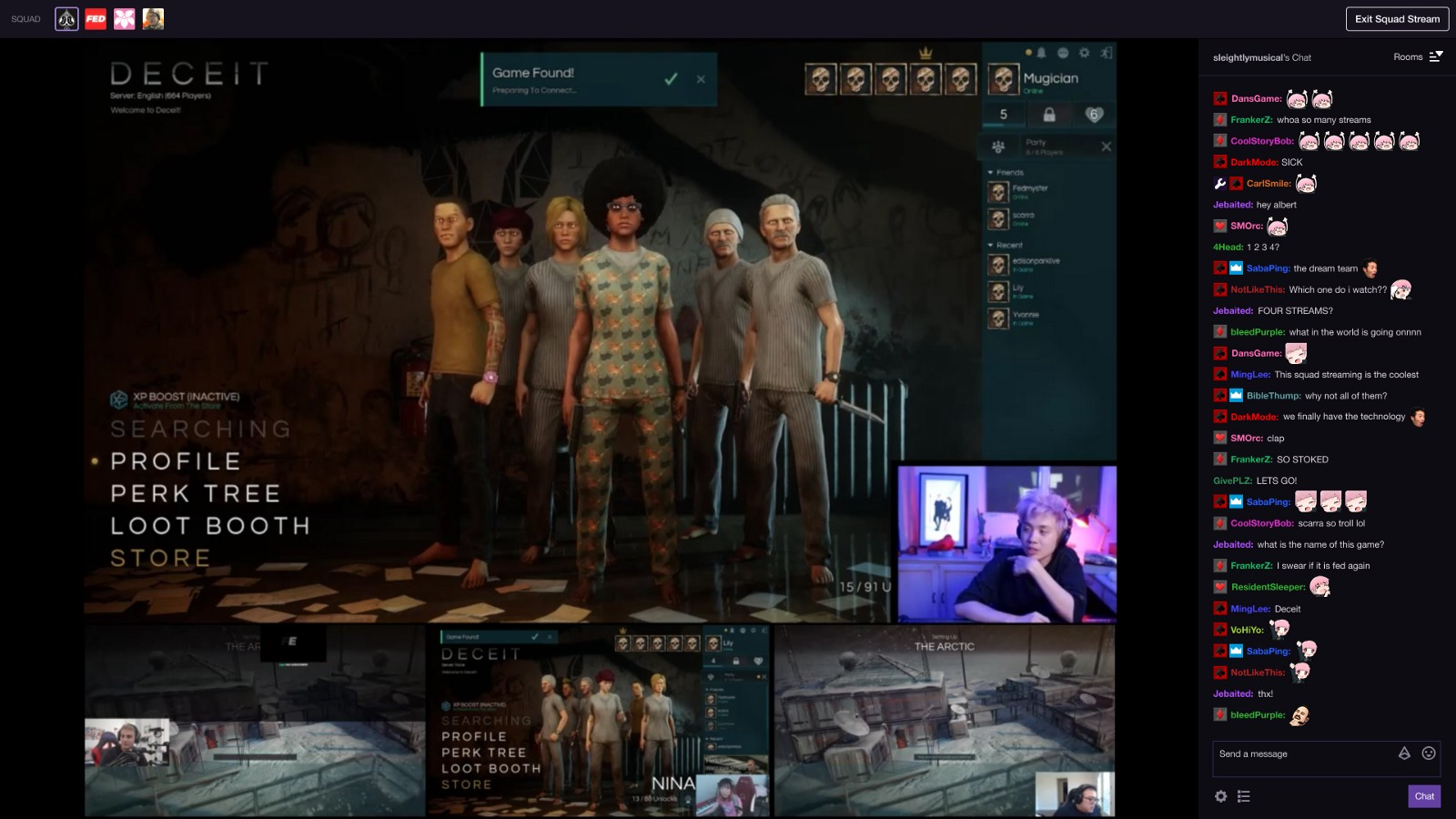 Squad Streaming